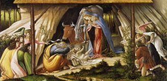 Sandro Botticelli, Mystische Geburt, 1501 © bpk Berlin / Foto: Jochen Remmer